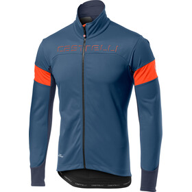 Castelli Transition Jacket Herre light steel blue/orange